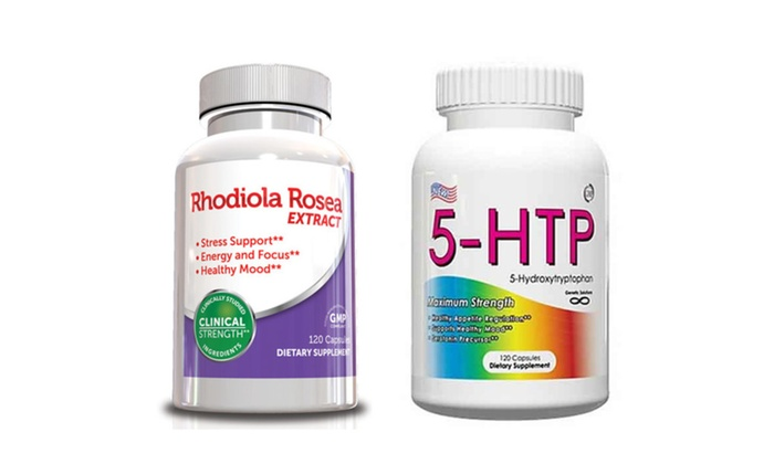 Buy It Now : 5 HTP Supplement & Rhodiola Rosea, 120 Capsules 4 Month Supply