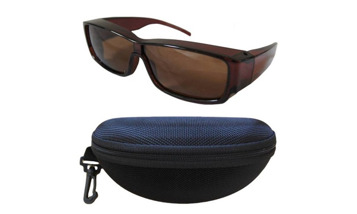 Andevan 100% UV Polarized Cover Over Sunglasses Size M & Fit Case