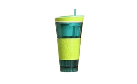 Sip-n-Snack (2 Pack) Plastic Two-in-One Snack and Drink Cup