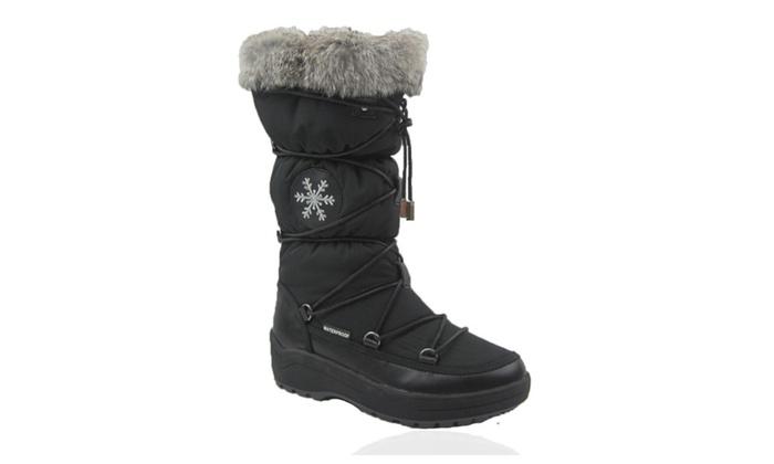 Comfy Moda Women's Winter Snow Boots Montana Waterproof Guaranteed Lea
