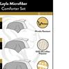 Superior Layla 3-piece All Season Down Alternative Embroidered Comforter Set
