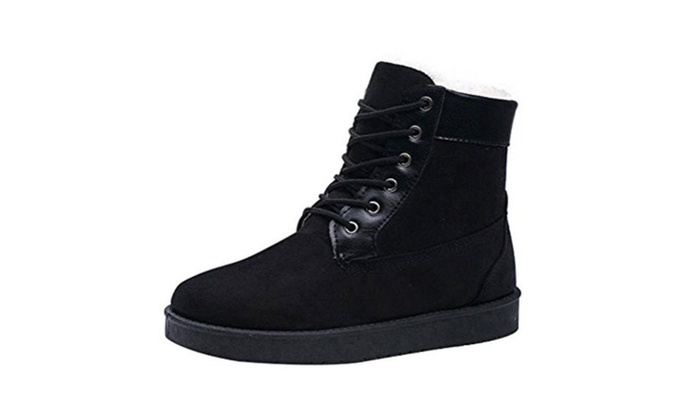 Men's Suede Leather  Outdoor Rubber Sole Snow Martin Boots