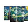 Vincent van Gogh 'Starry Night' Multi Panel Canvas Art Set