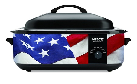 EMG 481876 18 qt Nesco Patriotic Roaster Oven photo