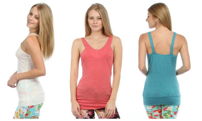 Lyss Loo Women's V-Neck Rayon Top