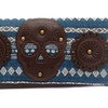 Blue Faux Leather Yarn Dyed Brown Skull Wallet by Loungefly