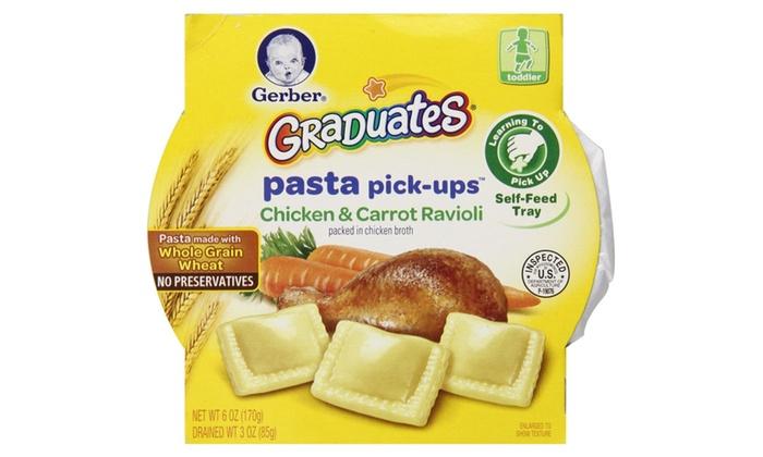 Gerber Graduates Pasta Pick Ups Chicken 6 Oz Pack Of 8