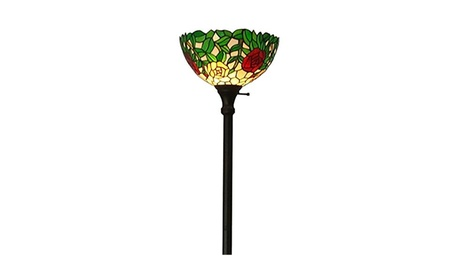 "AM051FL14 Tiffany Style Roses Floor Torchiere Lamps 72"" Tall e322fa64-af84-4df2-87d5-fe612fc65520"