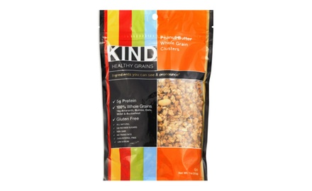 Kind Healthy Snacks Peanut Butter Whole Grain Cluster, 11 Ounce (Pack of 6)