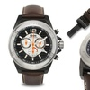 Brandt And Hoffman Priestley Chronograph Mens Watch Brown/Silver/Black