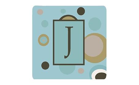 Carolines Treasures CJ1013-JFC Monogram - Blue Dots Foam Coasters photo