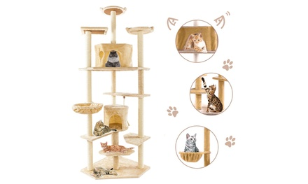 "80"" Cat Tree, Kitten Condo Multi-Level Activity Tower Pet Furniture Was: $129.99 Now: $67.99."