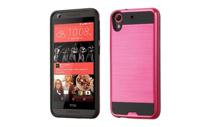low priced c97c4 9f781 Insten Hard Dual Layer Silicone Case For HTC Desire 626 626s Red ...
