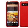 Insten Frosted TPU Rubber Candy Skin Case Cover For ZTE Speed Red