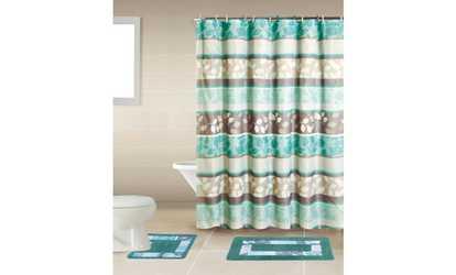 Shop Groupon Bath Boutique Poly-Acrylic 15-Piece Bathroom Set
