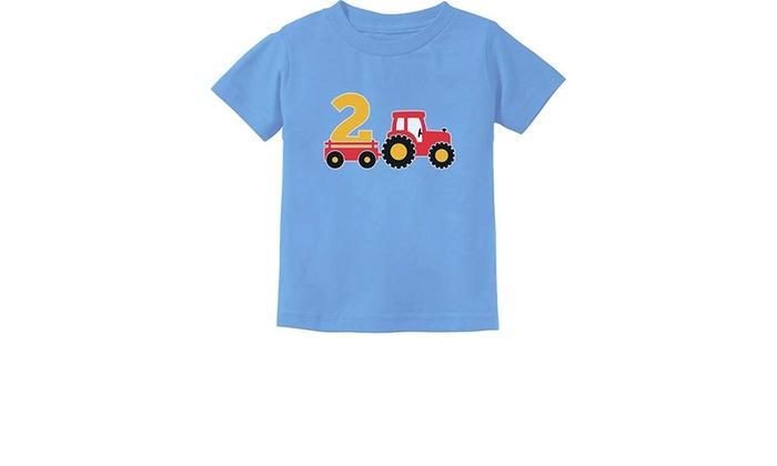 2nd Birthday Gift Construction Party 2 Year Old Boy Toddler//Infant Kids T-Shirt