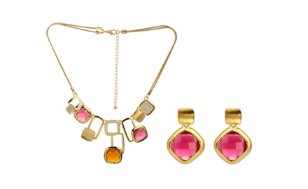 CLASSY UPTOWN LADY NECKLACE & EARRING SET