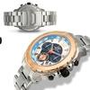 Aubert Freres Chronograph Lagasse Mens Watch Silver/Blue