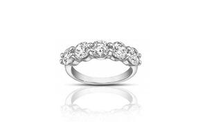 1.50 Ct Ladies Round Cut Diamond Wedding Band Ring