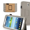 Insten Gray PU Leather Stand Case Cover for Samsung Galaxy Tab 3 7.0