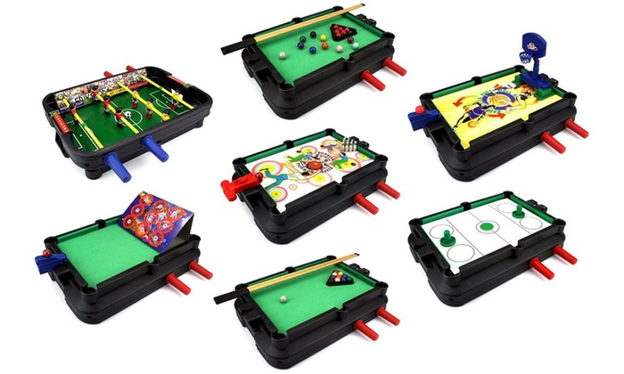 Groupon Goods: Ultimate 7-in-1 Novelty Table Top Arcade Games Toy Play Set