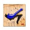 Roderick Stevens Suede Heel Blue Canvas Print