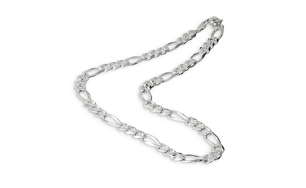 IceCarats Designer Jewelry Sterling Silver 24 11.0mm Pol Figaro Chain