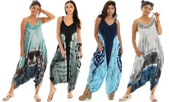 Women's Harem Jumpsuit With Tie Dye(also in plus size)