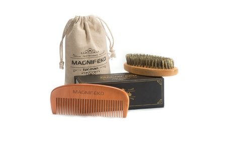 Beard Comb and Brush Grooming Set for Men 5d2357ff-75e4-43f3-a9c5-2bfc9c9f7931