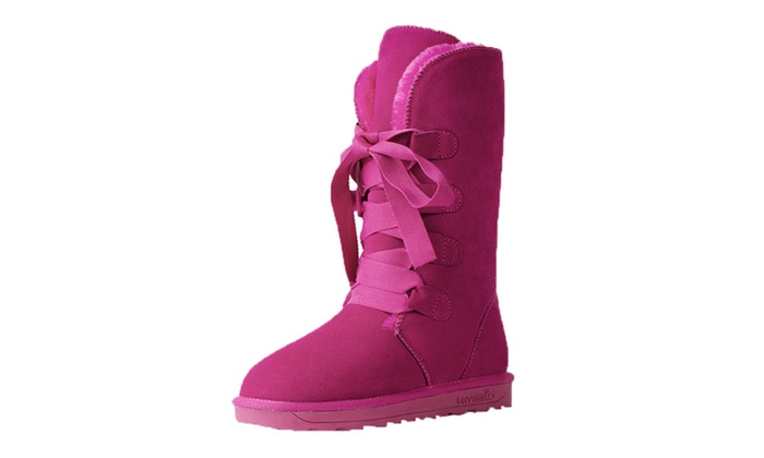 DPN Women's Classic Genuine Leather Snow Boots