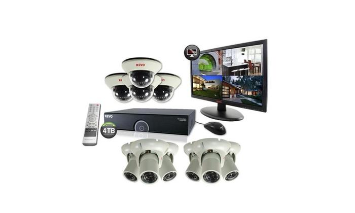 16 Ch. 4TB 960H DVR Surveillance System with 10 1200TVL Cameras