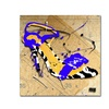 Roderick Stevens Zebra Heel Blue Canvas Print
