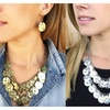 Layered Danggling Patterned Necklace - 2 Colors