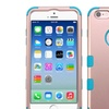 Insten Layer Transparent Silicone Case For iPhone 6 6s Rose Gold Blue