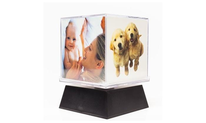 Motorized Revolving Photo Cube Frame | Groupon