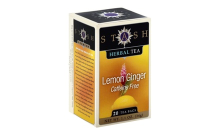 Stash Tea Lemon Ginger Herbal Tea value pack, (Pack of 120 tea bags)