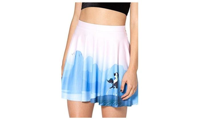 JTC Women's Scene Print Short Skirt