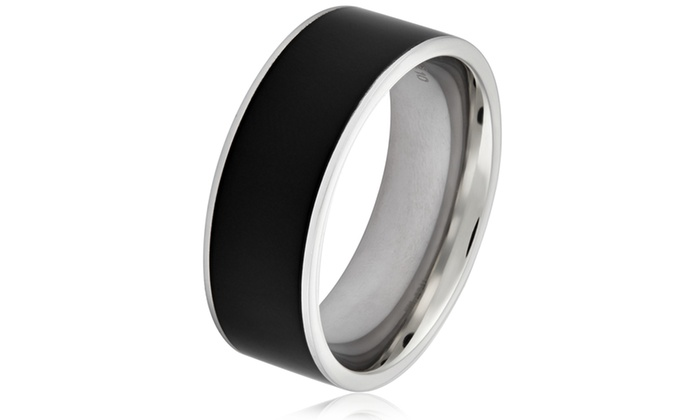 Groupon Goods: Men's Two-tone Stainless Steel Polished Band Ring