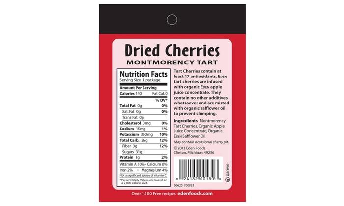 Eden Dried Cherries, Montmorency Tart, 1 OZ