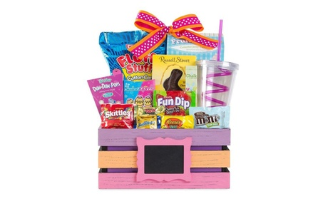 Easter Basket for Kids, Chocolate and Candy Favorites, Purple / Orange 33d2e271-3a37-4281-8ba0-70f1abd6a158