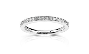 Diamond Wedding Band 1/8 Carat (ctw) In 14k White Gold
