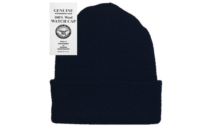 ... Military Genuine GI Winter USN Warm Wool Hat Watch Cap 98b763e0ecc