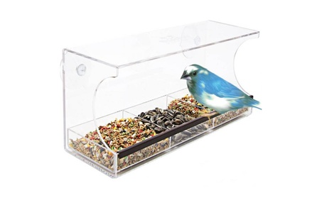 Solar Window Bird Feeder (Goods For The Home Patio & Garden Bird Feeders & Food) photo