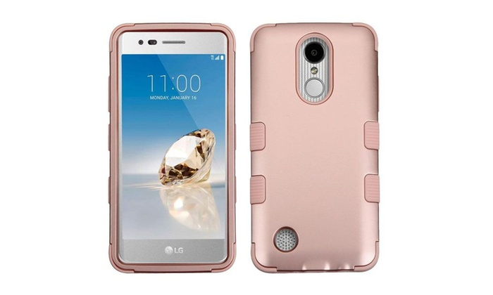 Groupon Goods: For LG Aristo/LV3 Rose Gold TUFF Hybrid Case Cover (Military-Grade Certified)