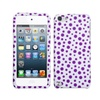 Insten Purple Mixed Polka Dots Phone Protector Case For Ipod Touch 6 5