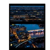 Philippe Hugonnard Window View London by Night 10 Canvas Print 24 x 32
