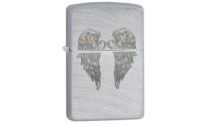 Zippo Angel Wings Pocket Lighter with Chrome Arch 29069