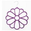 Velveteen Non Slip Flower Shape Scarf Bandana Wrap 13 Ring Hanger