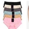 Women Bikini Extended Side-seam Panties Polka Dots Underwear / 6 Pack