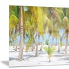 Palm Trees Landscape Photography Metal Wall Art 28x12